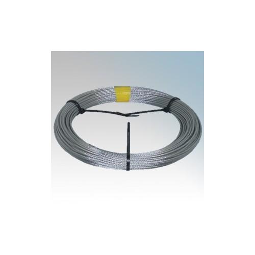 CED CW50 Galvanised High Tensile Steel Catenary Wire 3mm x 50m Reel