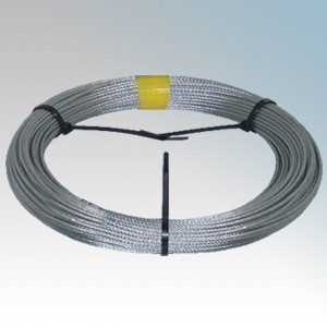 CED CW50 Galvanised High Tensile Steel Catenary Wire 3mm x 50m Reel