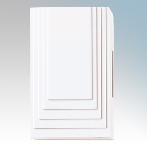 Friedland Big Ben White 2 Note & 1 Note Doorchime With 4 x R14 Batteries 171mm x 105mm x 49mm