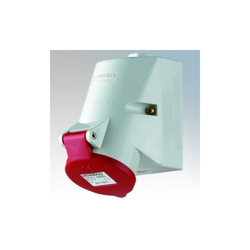 Mennekes 105 Red Surface Mounting Socket With Top & Bottom ...
