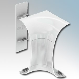 Marshall Tufflex DD1310WH Odyssey White Curved Trunking Internal Corner 180mm x 57mm