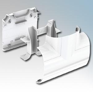 Marshall Tufflex DD1430WH Odyssey White Curved Trunking 90° Flat Tee 180mm x 57mm