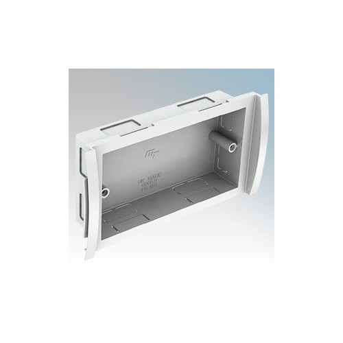 Marshall Tufflex DD1520WH Odyssey White Curved Trunking 2 Gang Mounting Box 30mm Depth