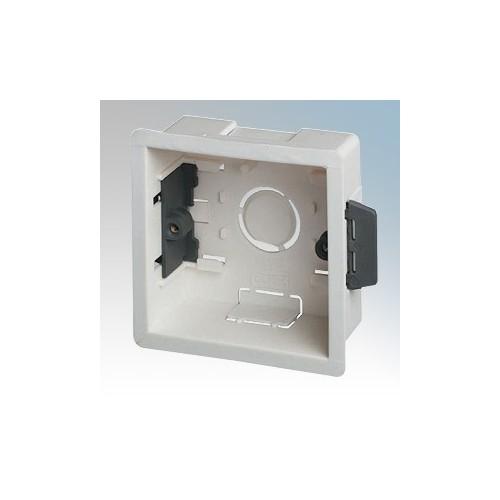 DLB1 White 1 Gang Dry Lining Mounting Box 35mm
