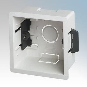DLB145 White 1 Gang Dry Lining Mounting Box 45mm