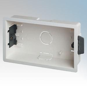 DLB2 White 2 Gang Dry Lining Mounting Box 35mm