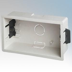 DLB245 White 2 Gang Dry Lining Mounting Box 45mm