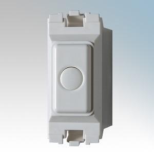 Danlers DSSGD MK400W White 1 Module Soft Start Grid Dimmer For MK Grid Plus Grid System 40W - 400W H: 59mm x W: 24mm x D: 34mm