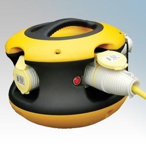 Birchwood E13200 'Spider Ball' Splitter Box With 4 x 16A 110V