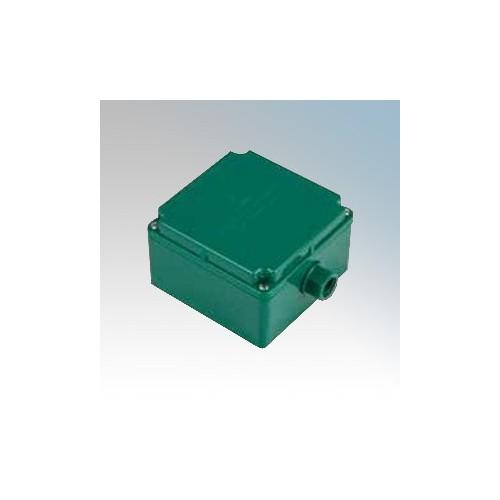 CED EB33GRN Green Plastic Earth Box - Requires Gland L: 81mm x W: 81mm x D: 67mm