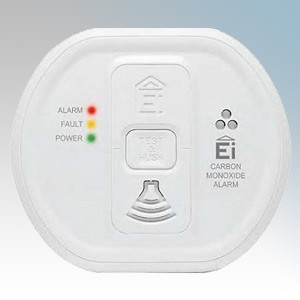 Aico EI208 White Lithium Battery Powered Carbon Monoxide Alarm With Built-In Pattress & Memory Feature 12V