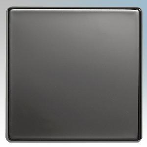 BG Electrical Nexus Black Nickel Screwless Flat Plate 1 Gang Blank Plate
