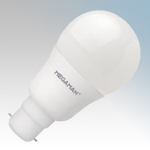 Megaman 143318 Economy Series Opal 15000Hr Non-Dimmable Warm White LED Classic GLS Lamp 9.5W BC 240V L:110mm x Ø:60mm