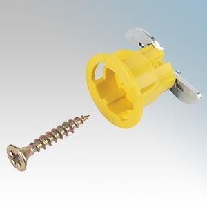 Gripit 152-2525 Yellow Plasterboard Fixings (Pack Size 25) 15mm