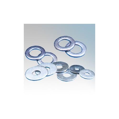 FW4 Electro-Zinc Plated Flat Washers M4 ( Pack Size 100 )