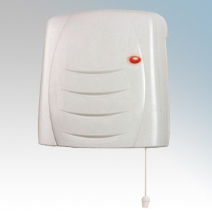 Dimplex FX20EIPX4 White Wall Mounting Downflow Fan Heater With Thermostat, Run Back Timer, Neon & Pullcord IPX4 2.0kW