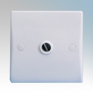GET GU2003 Ultimate White Moulded Flex Outlet Frontplate With Front Entry 25A