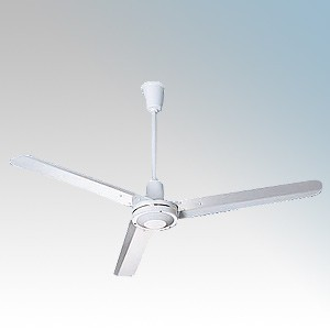 National Ventilation Hct1200 Monsoon White 3 Blade Ceiling Sweep Fan With 150mm 400mm Drop Rods 48 Inch 1200mm 240v Discount Electrical