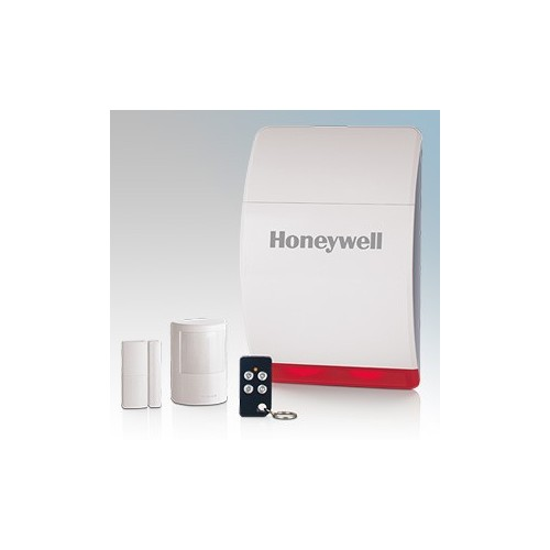 Honeywell HS311S Quick Start Wireless Alarm Kit With 1 x Wireless Battery Siren, 1 x Wireless Motion Sensor (PIR), 1 x Wireless Door and Window Sensor, 1 x Wireless Remote Control Key Fob, Window Stickers & Batteries