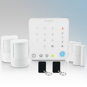 Honeywell HS330S Wireless Intelligent Control Apartment Alarm Kit With 1 x Wireless Keypad, 2 x Wireless Motion Sensor (PIR), 2 x Wireless Door and Window Sensor ,2 x Contactless Tags, Colour Dot Stickers, Window Stickers & Batteries