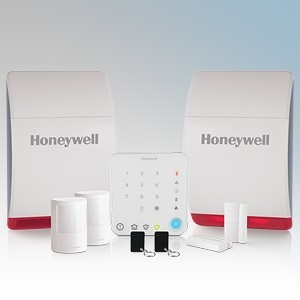 Honeywell HS342N Wireless Intelligent Control Home & Garden Alarm Kit With x Wireless Keypad, 1 x Wireless Battery Siren, 1 x Dummy Siren, 2 x Wireless Motion Sensor (PIR), 2 x Wireless Door and Window Sensor, 2 x Contactless Tags, Colour Dot Sticker