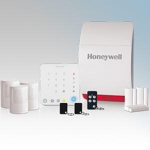 Honeywell HS351S Wireless Intelligent Control Family Home Alarm Kit With x Wireless Keypad, 1 x Wireless Battery Siren, 3 x Wireless Motion Sensor (PIR), 3 x Wireless Door and Window Sensor, 1 x Wireless Remote Control Key Fob, 2 x Contactless Tags,
