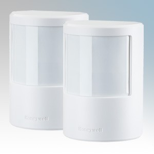 Honeywell HS3PIR2S White Wireless Motion Sensor (PIR) With Batteries & Fixings IP20 Detection Range 12m - 105° (Pack Size 2)