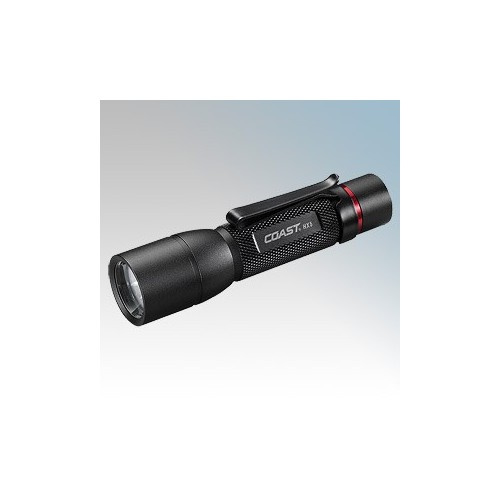 Coast Torches HX5 Black Focusing LED Pocket Torch With Battery IPX4 130Lm L:145mm