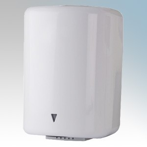 Hyco JET1600 Jetstream Ellipse White Steel Low Energy Automatic No Touch Hand Dryer IPX1 1.6kW 240V