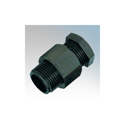 Elkay 251-B Black Standard Nylon Cable Gland IP66 M20 Cable Ø : 10mm-7mm Thread Length : 11mm