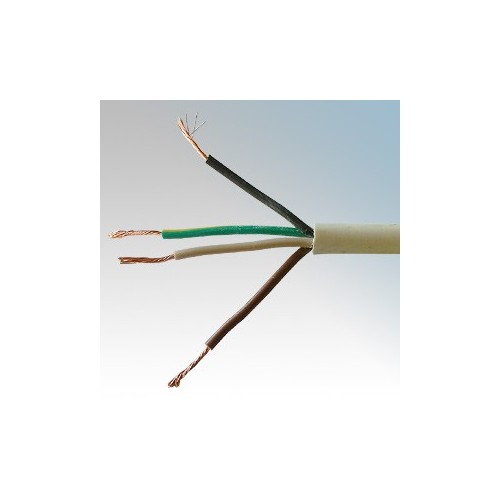3184Y1.5WHI100 BASEC Approved 3184Y White 4 Core PVC Insulated & Sheathed Circular Flexible Cable 1.5mm 100m Reel