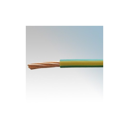 6491X16G/Y100 BASEC Approved 6491X Green/Yellow Single Core Insulated Conduit Wiring Cable 16mm 100m Reel