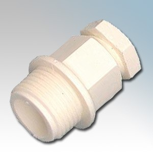 Elkay 254-W White Standard Nylon Cable Gland IP66 M25 Cable Ø : 18mm-12mm Thread Length : 12mm
