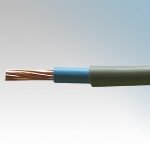 6181H10GBL50 BASEC Approved 6181Y Grey Double Insulated Single Blue Core Surface Wiring Cable 10mm 50m Reel