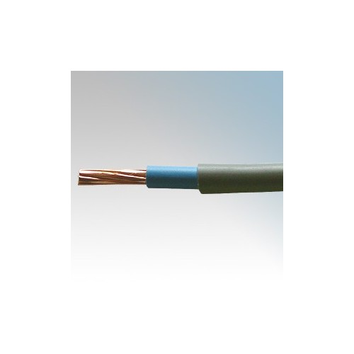 6181H25GBL50 BASEC Approved 6181Y Grey Double Insulated Single Blue Core Surface Wiring Cable 25mm 50m Reel