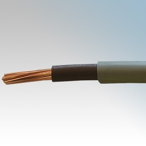 6181H10GBN50 BASEC Approved 6181Y Grey Double Insulated Single Brown Core Surface Wiring Cable 10mm 50m Reel