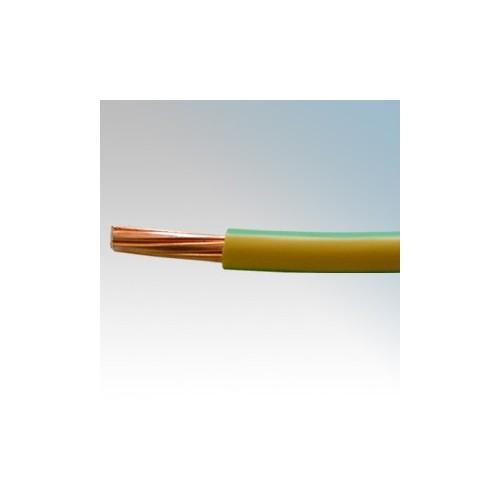 6491X16G/Y1 BASEC Approved 6491X Green/Yellow Single Core Insulated Conduit Wiring Cable 16mm (priced per metre)