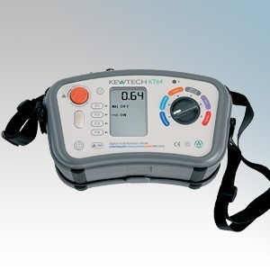 Kewtech 6-In-1 Digital Loop, PSC, RCD & Insulation/Continuity Multifunction Tester