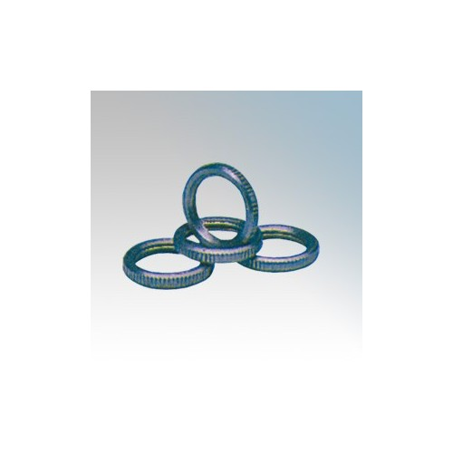 BZP Steel Locking Rings c/w Milled Edge 25mm