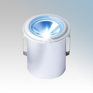 Collingwood Lighting LED LYTE IP Silver Plug-and-Play IP Rated Mini LED Downlight With Blue LED IP65 1W 350mA