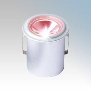 Collingwood Lighting LED LYTE IP Silver Plug-and-Play IP Rated Mini LED Downlight With Red LED IP65 1W 350mA