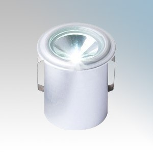 Collingwood Lighting LED LYTE IP Silver Plug-and-Play IP Rated Mini LED Downlight With Warm White LED IP65 1W 350mA