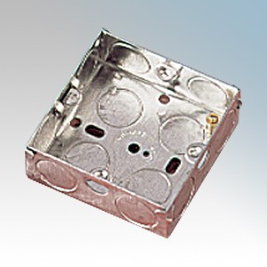 APPLEBY MB125 Steel 1 Gang Flush Mounting Box With 2 x Adjustable Lugs & Knockouts 25mm