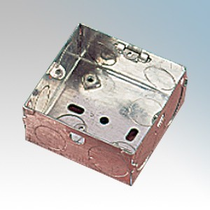 APPLEBY MB135 Steel 1 Gang Flush Mounting Box With 2 x Fixed Lugs & Knockouts 35mm