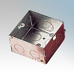 APPLEBY MB147 Steel 1 Gang Flush Mounting Box With 2 x Fixed Lugs & Knockouts 47mm