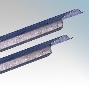 MCH13-GS1 Galvanised Steel Capping 13mm / ½ Inch x 2m Length