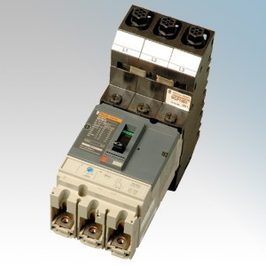 Merlin Gerin Powerpact4c 3 Module Triple Pole Bottom Entry Moulded Case Circuit Breaker MCCB 80A 36kA 415V