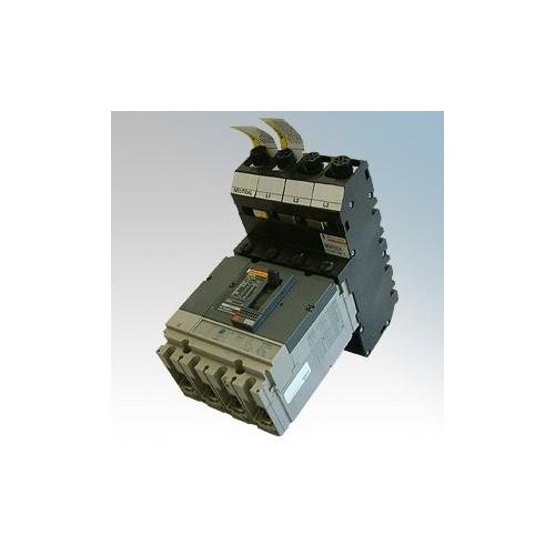 Merlin Gerin Powerpact4c 6 Module Four Pole Bottom Entry Switch Disconnector 400A 50kA 415V