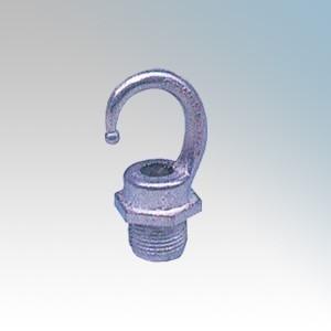 Galvanised Steel Screwed Male Hook 20mm