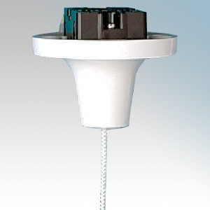 MK Electric 3151WHI White Double Pole 1 Way Flush Mounting Pullcord Ceiling Switch 16A
